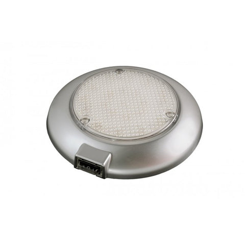 LED DOME LIGHT W/SWITCH .14AMP SILVER GREY
