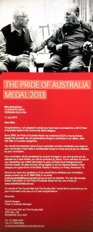 PRIDE OF AUSTRALIA NOMINATION 2013
