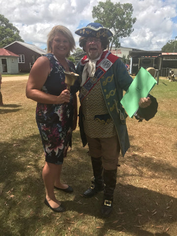 2018 has started with a fabulous summer days Meet the TOWN CRIER at the AUSTRALIA DAY at CABOOLTURE HISTORICAL VILLAGE