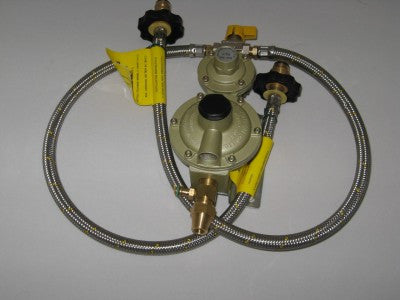 Two-Stage Regulator with C/o Valve, Std. s/s pigtails x 600mm Long with Test Point Union.
