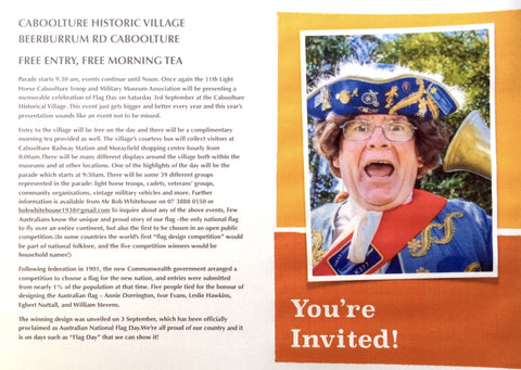 Meet the TOWN CRIER on Heritage Day held at Caboolture Historical Village 2016