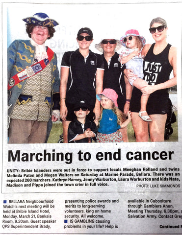 Melanoma March Bribie Island 2016