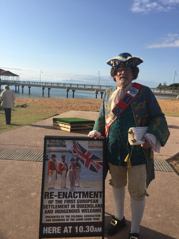 Meet the TOWN CRIER on the Eleventh September 2016 Redcliffe Remembers put it in your diary!- You are all invited for another wonderful day of fun and activities woo hoo- another successful day had by all.