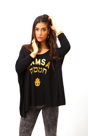 LOOSE FIT TOP TRIPLE HAMSA