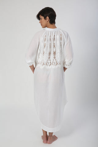 GALABEYA LACE WHITE