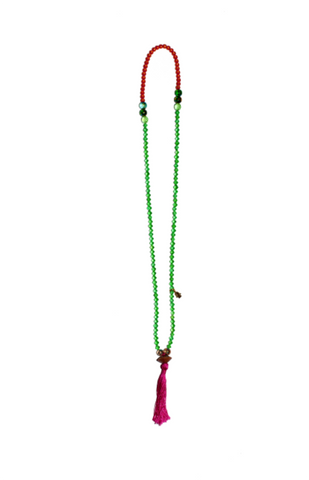 "LONG TASSEL NECKLACE ""JORDAN RIVER"""