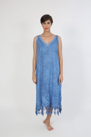 SLEEVELESS GALABEYA BLUE LACE