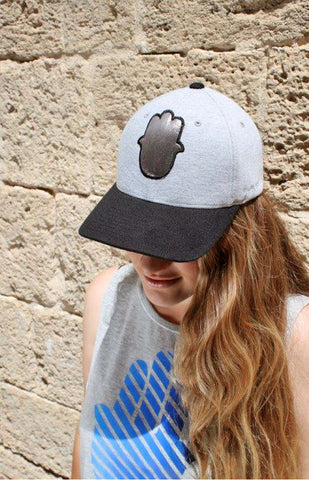 HEATHER BLACK HAMSA CAP