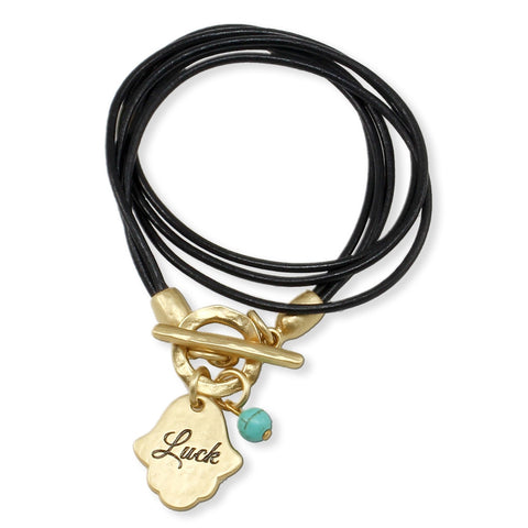 "LEATHER BRACELET ""LUCK"""