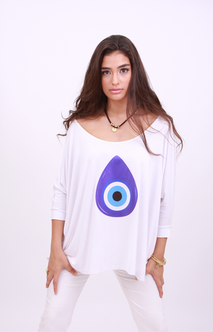 "LOOSE FIT TOP ""NAZAR BONCUK"""