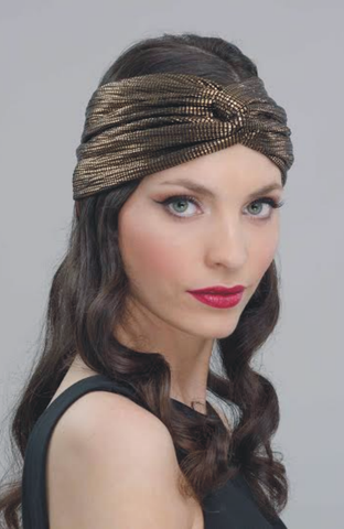 HALF TURBAN EVENING BRONZE