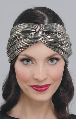 HALF TURBAN EVENING GOLD