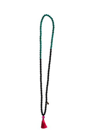 "LONG TASSEL NECKLACE ""CARMEL"""