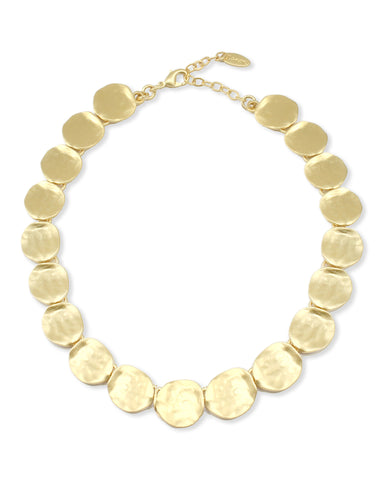 CIRCULAR GOLD BEADS NECKLACE
