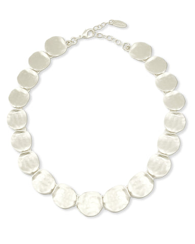 CIRCULAR SILVER BEADS NECKLACE