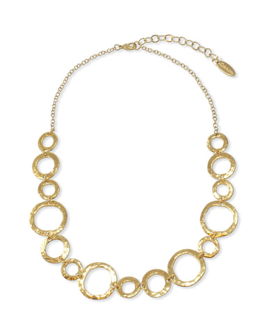 MULTI CIRCLES GOLD NECKLACE