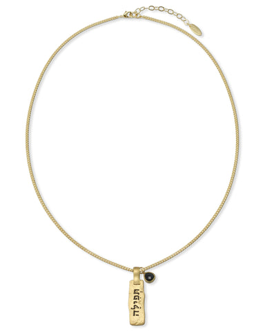 "GOLD NECKLACE ""PRAYER"""