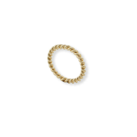 ROPE SCULPTED GOLD RING