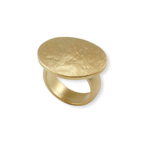OVAL CRAFTED GOLD RING