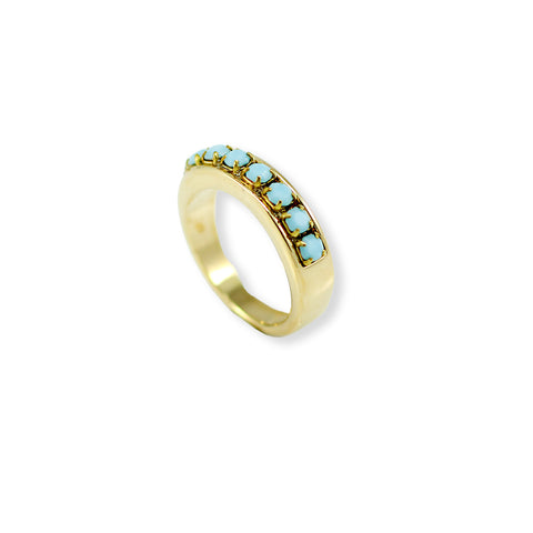 GOLD RING WITH SWAROVSKI CHRYSTALS
