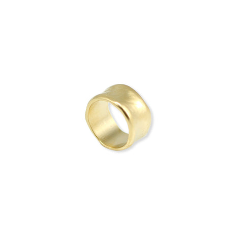 TEXTURED CHUNKY GOLD RING