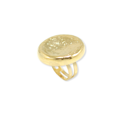 ADJUSTABLE ROUND CRAFTED GOLD RING