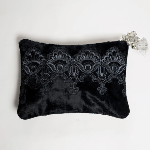 CLUTCH BAG GREY HAMSA'S