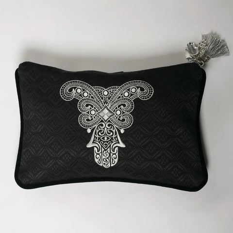 CLUTCH BAG LEILA SILVER