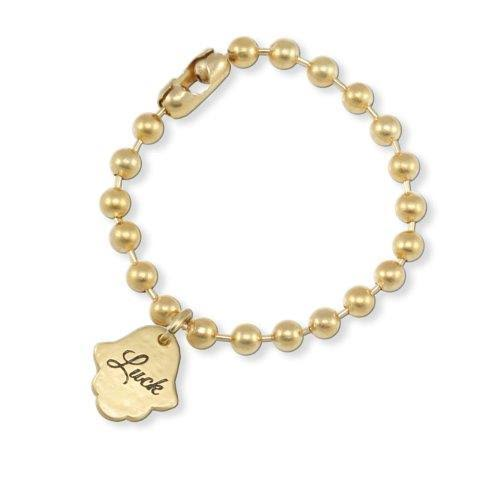"GOLD BALL CHAIN BRACELET ""LUCK"""