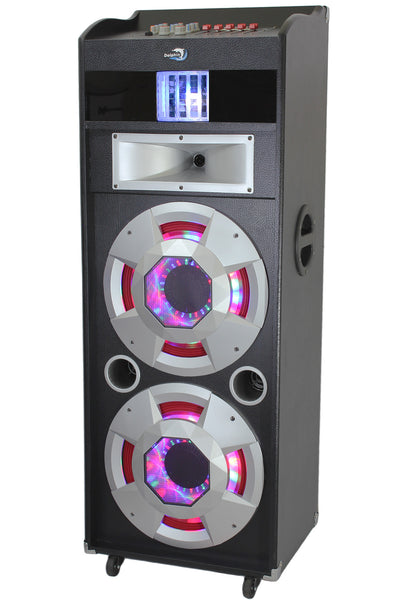 Dolphin SP-142BT Bluetooth Party Speaker - 2x12