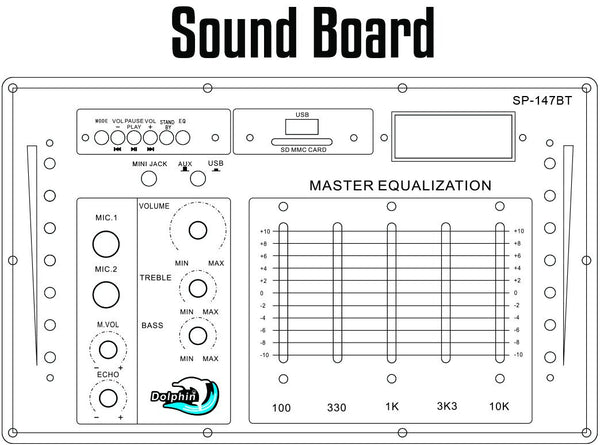 Sp-147Bt sound board graphic