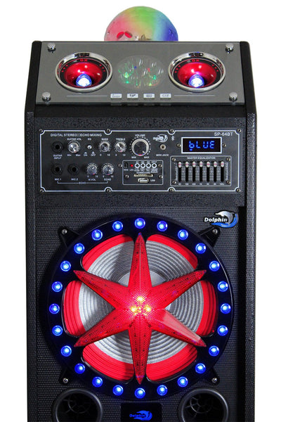 PA Speaker - Bluetooth Party Speaker System With 2x10