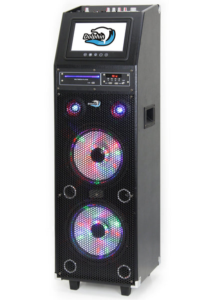 Dolphin 2100w Karaoke Machine With 9 Quot Monitor Amp Dvd Player