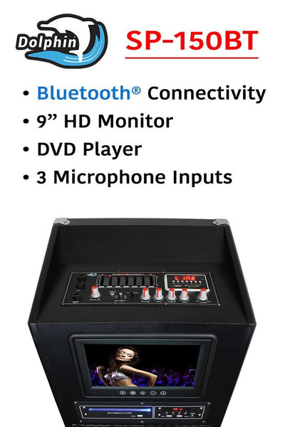 Karaoke speaker with monitor