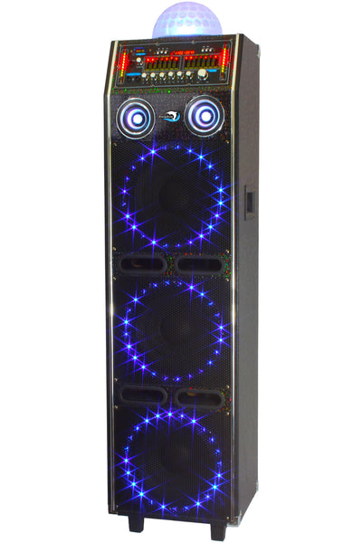 Dolphin Sp 54bt 3x10 Quot Party Speaker With Disco Lights