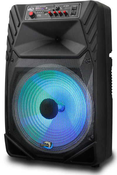Rechargeable 15 Inch Bluetooth Party Speaker With Lights - 1900W