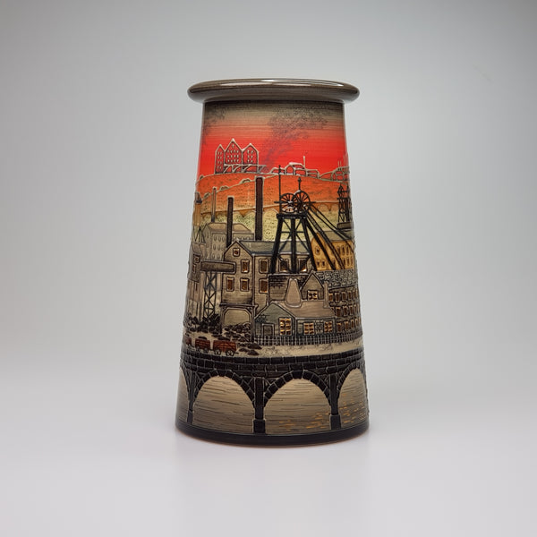 Dennis Chinaworks Industrial vase designed by Sally Tuffin - uk-art-pottery-test-site