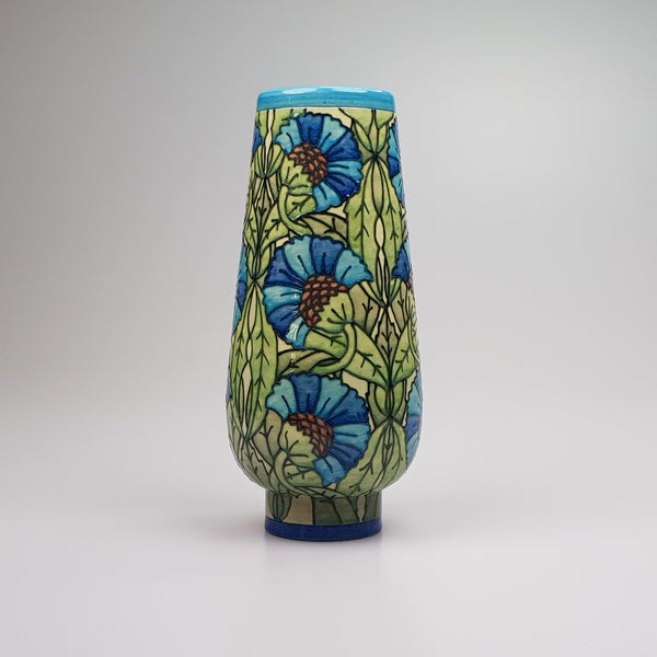 "De Morgan 8"" bud vase designed by Sally Tuffin for the Dennis Chinaworks - uk-art-pottery-test-site"
