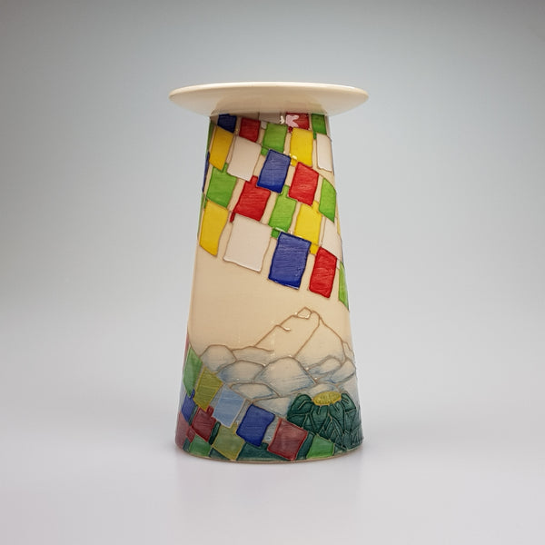 Dennis Chinaworks Sally Tuffin Nepal vase - uk-art-pottery-test-site