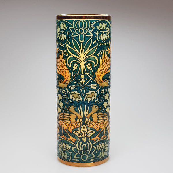 "Sally Tuffin designed Morris Dragon & Peacock  10"" Spill Vase - uk-art-pottery-test-site"