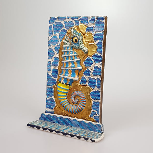 David Burnham Smith Sea Horse - uk-art-pottery-test-site