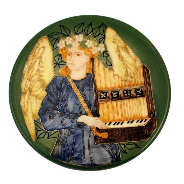 "Dennis Chinaworks Angel Minstrels Portative Organ Roundel 6"" - uk-art-pottery-test-site"