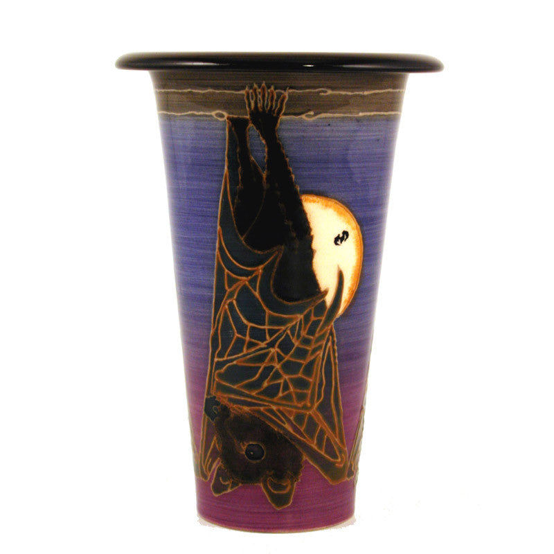 "Dennis Chinaworks Bat Moon Rising Flute 6"" - uk-art-pottery-test-site"