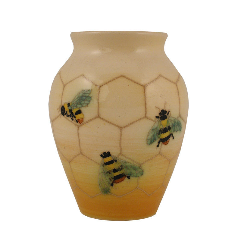 "Dennis Chinaworks Bee on Ivory Baluster 4.5"" - uk-art-pottery-test-site"