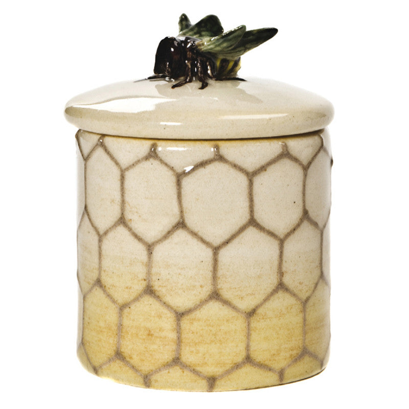 Dennis Chinaworks Bee on Ivory Lidded Box 2.5