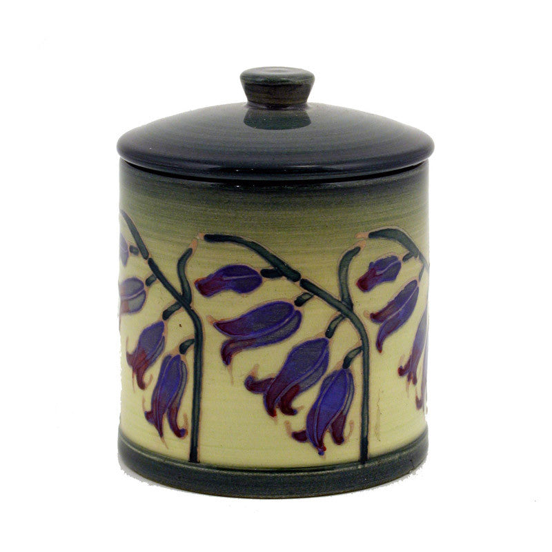 Dennis Chinaworks Bluebell on Pale Green Lidded Box 3.75