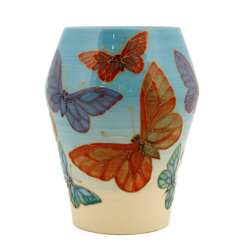 Dennis Chinaworks Butterfly on Blue Barrel 6