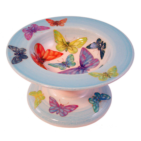 Dennis Chinaworks Butterfly on Blue Tazza 8