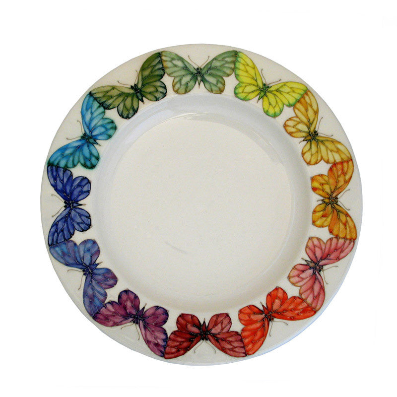 Dennis Chinaworks Butterfly on Ivory Plate 14