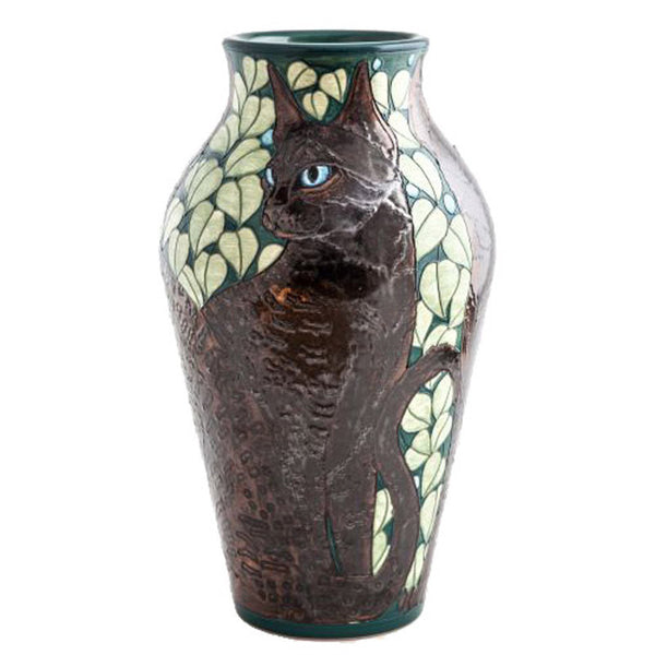 "Dennis Chinaworks Cat Black Baluster 14"" - uk-art-pottery-test-site"